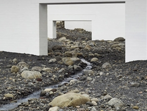"Olafur Eliasson fills modern art museum with ""giant landscape"" of rocks"