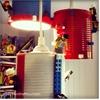 IKEA Hemma with LEGO lampshade