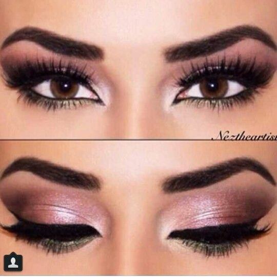 Sexy eye makeup for brown eyes. ♥