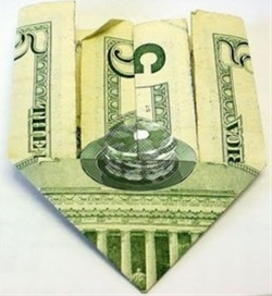 HIDDEN STACK OF PANCAKES ON THE FIVE DOLLAR BILL