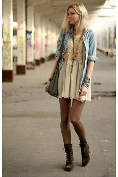 brown combat boots- I already have a pair of black Doc Martens and I wish I had a pair of brown combat boots because they are less harsh and would be perfect with summer dresses.