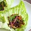 Thai Chicken Peanut Lettuce Tacos