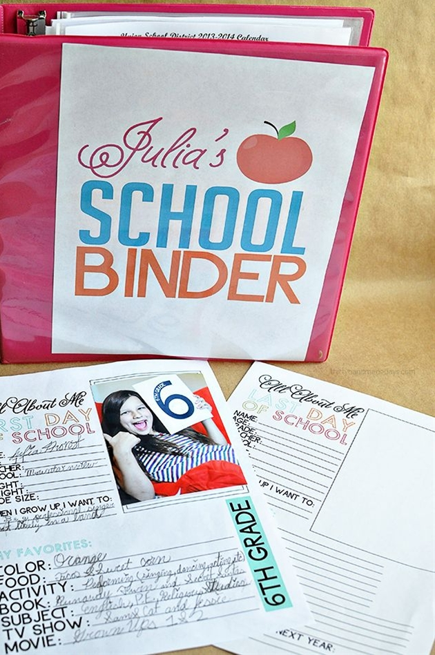 Printable Last Day of School Fill In - to go hand in hand with school binder.  You can still have your kids fill this out even if they already got out of school!