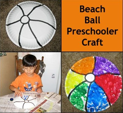 What a fun summer craft for toddlers to preschoolers.  You can practice identifying colors or even make a pattern.