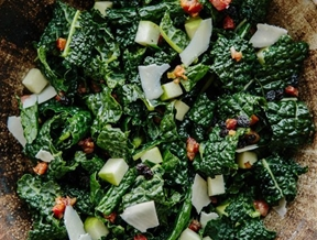 Recipe: Kale with Apples, Currants, and Warm Pancetta Vinaigrette — Recipes from The Kitchn