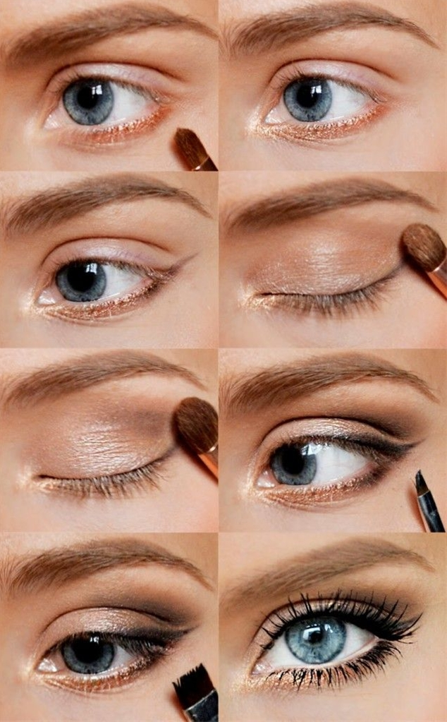 Natural look is the main trend for this summer season 2014. This summer, in trend is a makeup with pastel colors, sky blue, light pink, light grey, purple, the choice is very big.