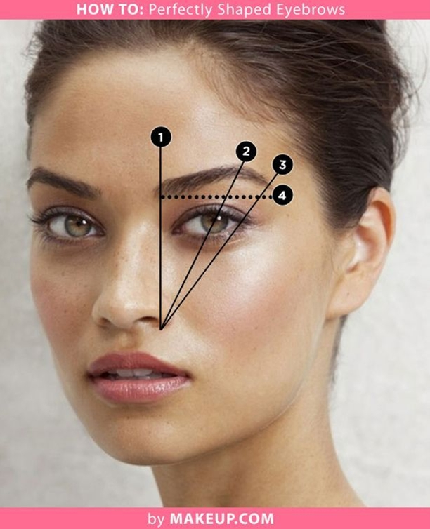tutorial on how to get perfectly shaped eyebrows. I have plucked their eyebrows too far apart!