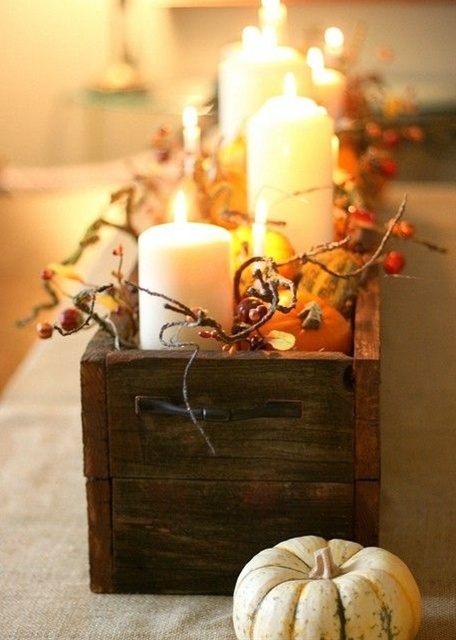 Fall centerpiece.