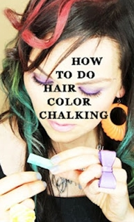 Chalk hair coloring