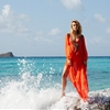 Farah Holt is Beach Ready in Amanda Wakeley Summer 2014 by Kate Martin