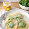 Recipe: Minty Pea & Arugula Wonton Ravioli — Weeknight Dinner Recipes from The Kitchn