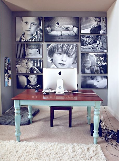 office decorating ideas, wall collage, canvas collage