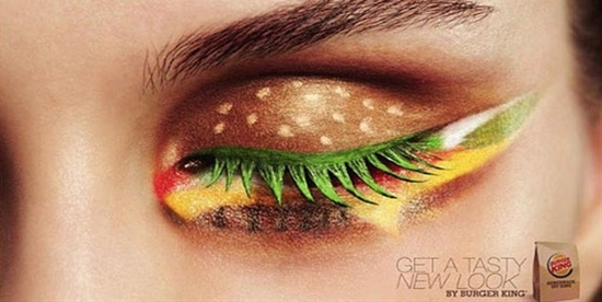 oh my god...burger king designed this look...this is like advertisement to the extreme