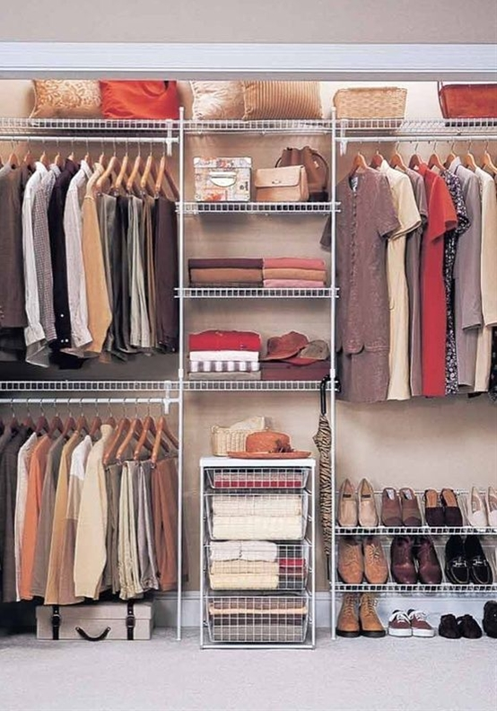 I need to do something like this in my extra bedroom. I want to make some extra shelving without making it unusable for clothes at a later time if needed.