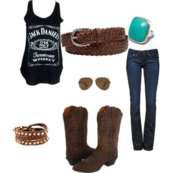 """Summer country outfit"" by geri-fletcher on Polyvore ..don't think I'd do the boots but I love everything else"