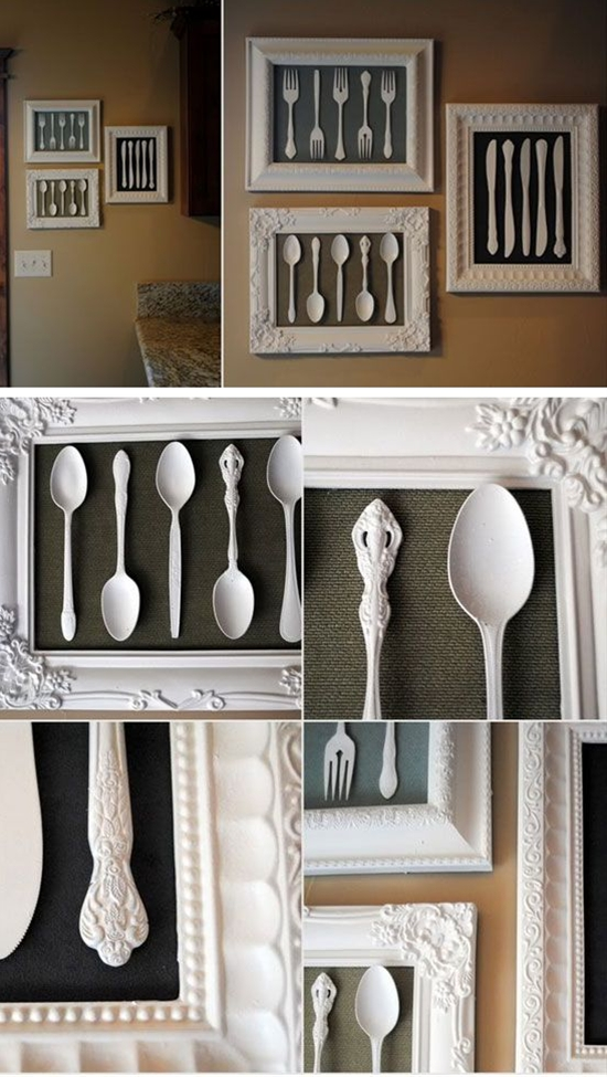 Wall Art Made from Recycled Cutlery | DIY Home Decorating on a Budget | DIY Projects for the Home Dollar Store