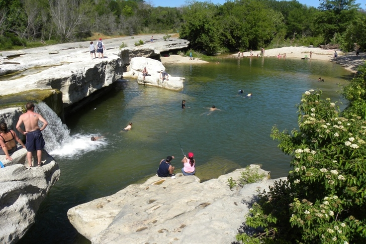 McKinney Falls State Park only 15 minutes from Downtown Austin Texas. Swim in one of the two water holes, Camping, Fishing, Mountain Biking, picnicking and more.