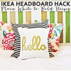 IKEA Headboard Hack – Plain White to Bold Stripes