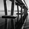 "'East of Dumbarton bridge"" - the water of SF bay was calm like a..."