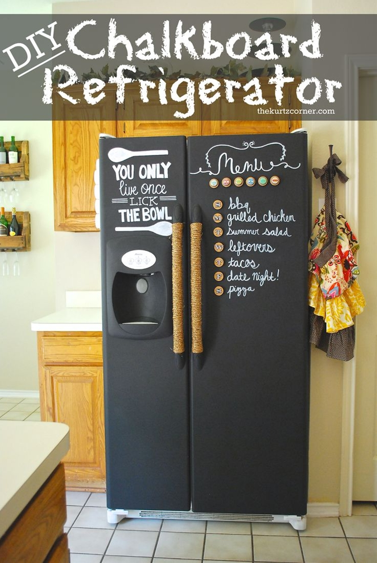 I wanted to create something that was both cute, functional, and could help us organize our grocery list and weekly meal planning. With limited wall space, I decided it would be fun to turn our fridge into our very own chalkboard! It's perfect for me to plan meals and a fun canvas for Peyton when he is old enough to play with chalk, win-win!\n\n