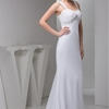Sheath/Column Straps Sweep Train Chiffon dress with Beading