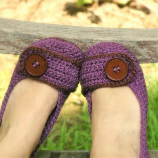 slipper crochet pattern - will make when it starts getting a bit cooler