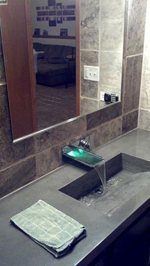 Concrete countertop - bathroom sink how to