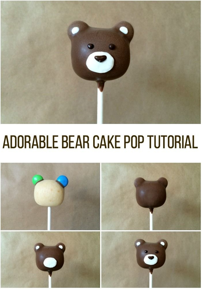 What can be more adorable than a cuddly little bear?! Learn how to make oh-so-cute bear cake pops in just 7 easy steps.