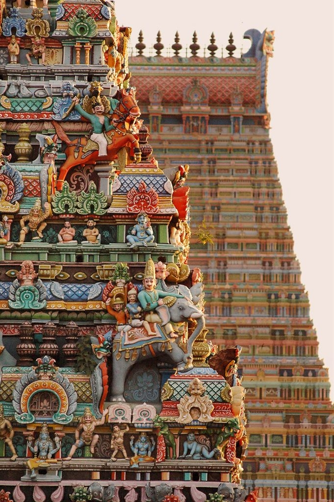 Detail of Sri Ranganathaswamy Temple, Tiruchirappally, Tamil Nadu, India