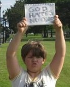Josef Miles 9 year old who counter protested Westboro Baptist Church. Coolest. Kid. Ever.