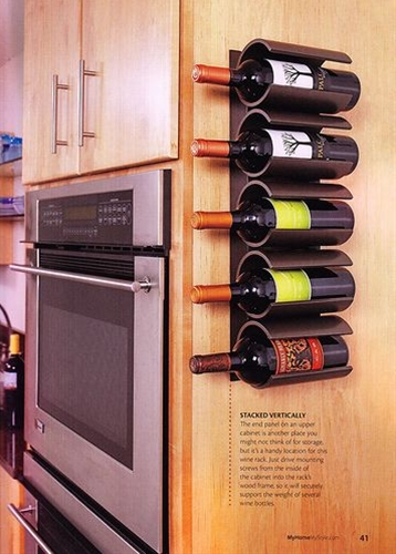 I love how they used PVC pipe to create this wine bottle holder. Brilliant!