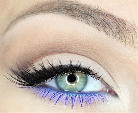 Fun way to do colored eyeliner/mascara.