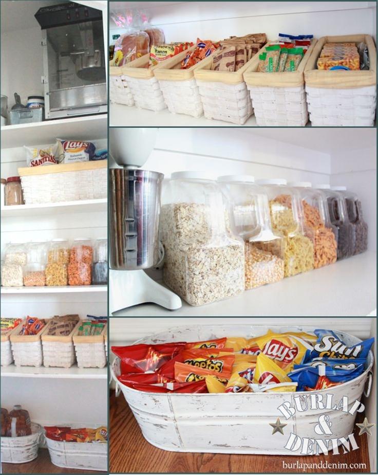 Great idea on pantry organization.