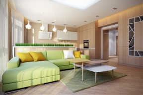 A Cozy Apartment in Kyiv with Soft Citrus Accents [Includes Floor Plan]