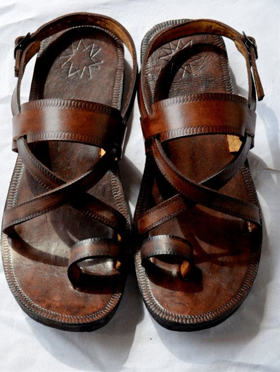 Cross Over Buckle Sling Leather Sandals-Handmade Sandals , Indian Leather Sandals,Ladies, Mens, Custom made, Wholesale - ALL SIZES on Etsy, $50.00