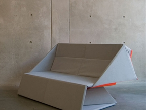 Origami Sofa by Yumi Yoshida unfolds to become a floor mat