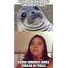 She won the awkward moment seal contest… #letsdothis9gag