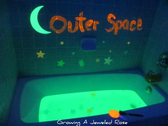 Outer Space Themed Bath!  FUN!