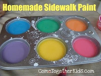 Homemade sidewalk paint...
