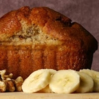 Healthy banana bread, this was so easy and delicious!  Makes the house smell wonderful, too.  Will definitely make again!