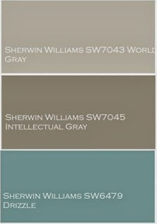In the inspiration board, you can see the custom paint color palette we created for Bernadette.  This palette was used throughout the whole house design project.