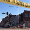 Woman crashes stolen car, demolishing an entire building in seconds.
