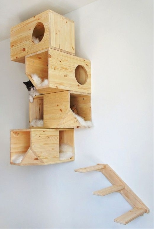 reuse wood inspiration the cat house Catissa