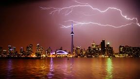 Lightning strikes in Downtown Toronto by Amarpreet Kaur...