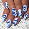 @ohriginails #Gina #handpainted #gelnail #nailart #VanityProjects (at Vanity Projects)