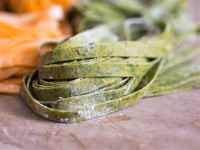 Spinach-Colored Fresh Pasta