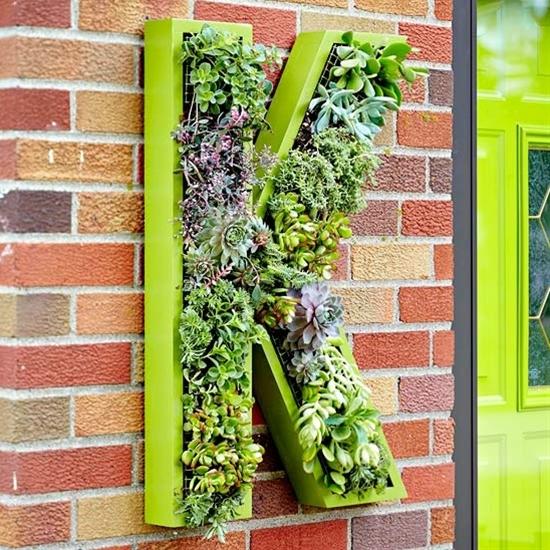 Living Monogram Wreath