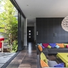 Contemporary Villa With Splashing Colors and Courtyard