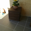 Wood tiles to wooden stool