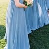 French Blue & Peach Southern Farm Wedding